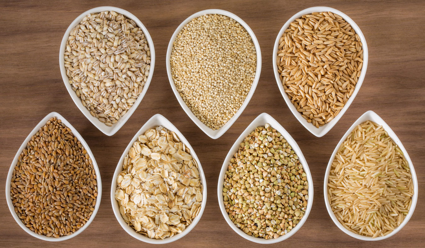 Whole grains - rice, buckwheat, barley, millet, oats, spelt