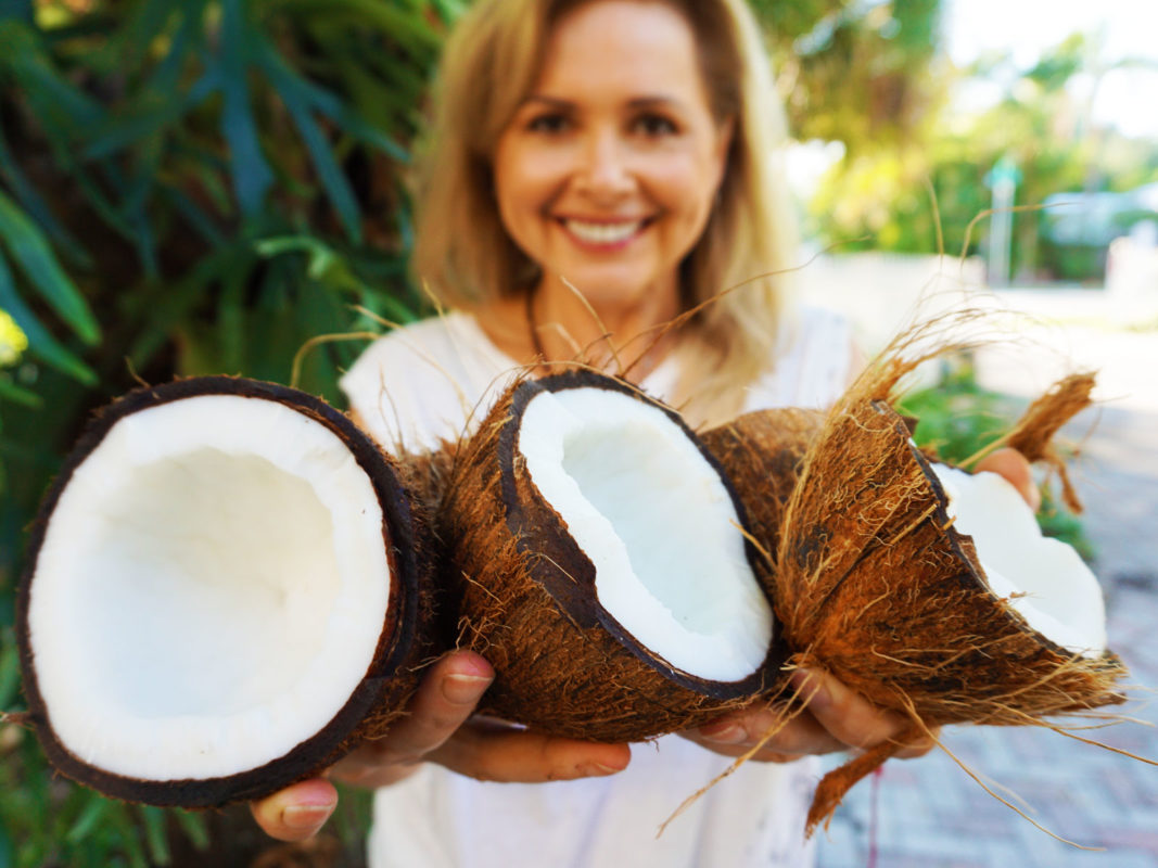 fresh coconuts for homemade coconut milk
