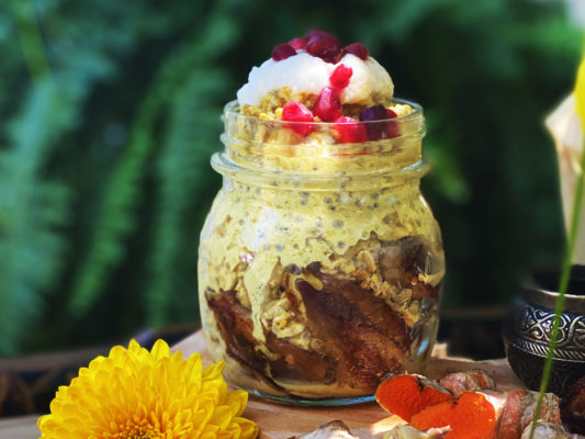 Golden Milk Overnight Oats